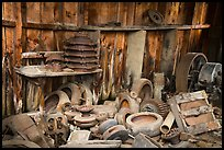 Abandonned machinery parts in mine. Wrangell-St Elias National Park ( color)