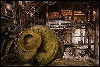 Ball mill inside Nabesna Mine. Wrangell-St Elias National Park ( color)