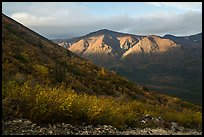 Boyden Hills from Skookum Volcano. Wrangell-St Elias National Park ( color)