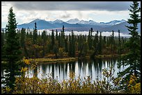 Rock Lake and Wrangell range in autumn. Wrangell-St Elias National Park ( color)