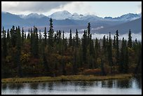Rock Lake and Wrangell mountains. Wrangell-St Elias National Park ( color)