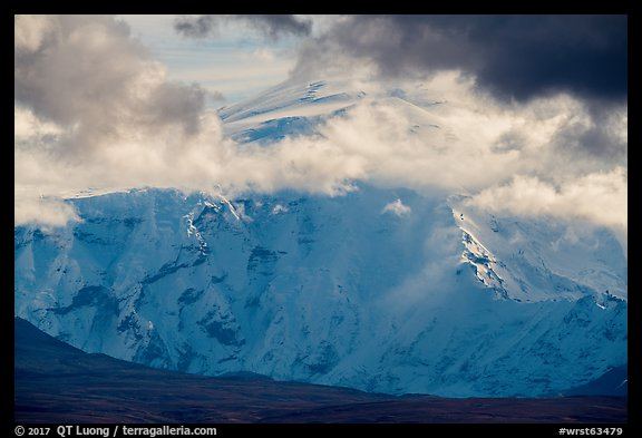 North face of Mount Blackburn. Wrangell-St Elias National Park (color)
