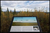 Wrangell Mountains interpretive sign. Wrangell-St Elias National Park ( color)