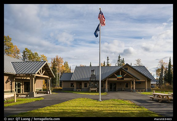 Visitor Center. Wrangell-St Elias National Park (color)