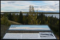 Mt Wrangell interpretive sign. Wrangell-St Elias National Park ( color)