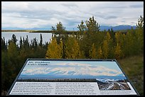 Mt Blackburn interpretive sign. Wrangell-St Elias National Park ( color)