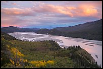 Chitina River, sunset. Wrangell-St Elias National Park ( color)