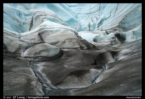 Sculptured ice, Root Glacier. Wrangell-St Elias National Park (color)