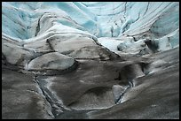 Sculptured ice, Root Glacier. Wrangell-St Elias National Park ( color)