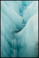 Moulin, Root Glacier. Wrangell-St Elias National Park ( color)