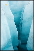 Waterfall, Root Glacier. Wrangell-St Elias National Park ( color)