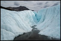Glacial canyon, Root Glacier. Wrangell-St Elias National Park ( color)