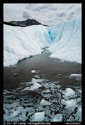Meltwater and glacial canyon, Root Glacier. Wrangell-St Elias National Park (color)