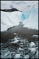 Meltwater and glacial canyon, Root Glacier. Wrangell-St Elias National Park ( color)