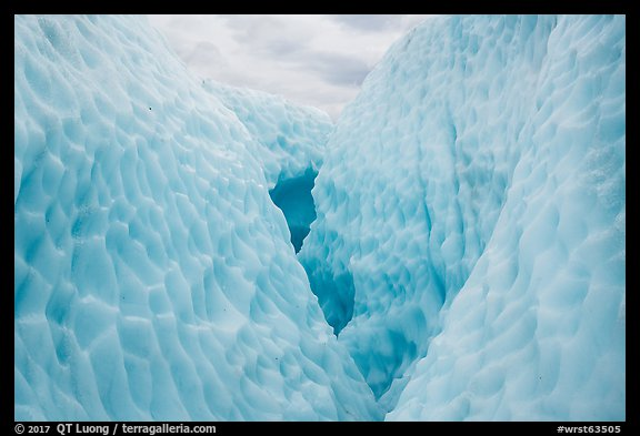 Ice walls forming a canyon, Root Glacier. Wrangell-St Elias National Park (color)