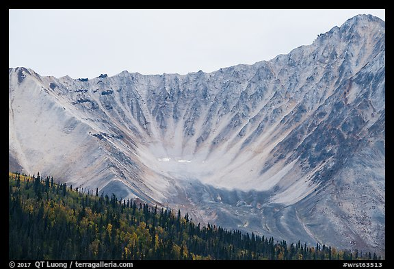 Glacial amphitheater. Wrangell-St Elias National Park (color)