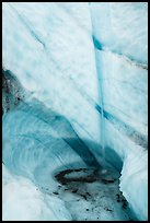 Waterfall drops in ice bowl. Wrangell-St Elias National Park ( color)