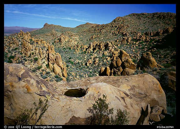 Valley with boulders in Grapevine mountains. Big Bend National Park (color)
