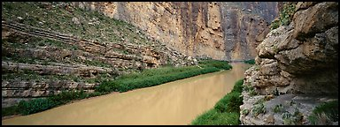 Rio Grande River flowing through Santa Elena Canyon. Big Bend National Park, Texas, USA.