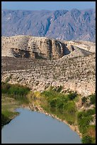 Rio Grande River and Sierra de San Vicente. Big Bend National Park ( color)