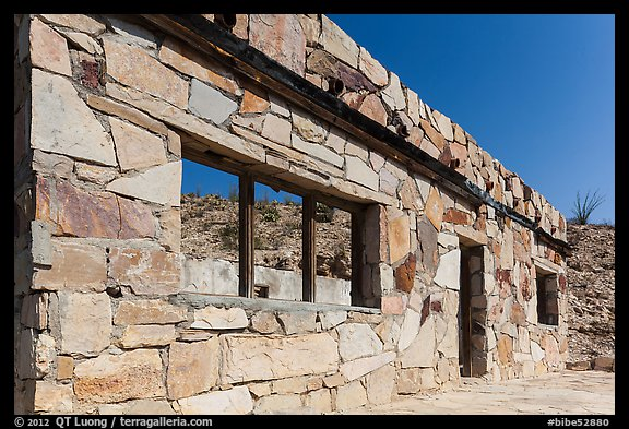 Ruins of historic bathhouse. Big Bend National Park (color)