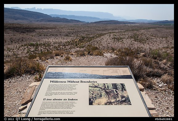 Interpretive sign, Sierra Del Carmen. Big Bend National Park (color)
