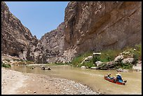 Paddling the Rio Grande in Boquillas Canyon. Big Bend National Park ( color)