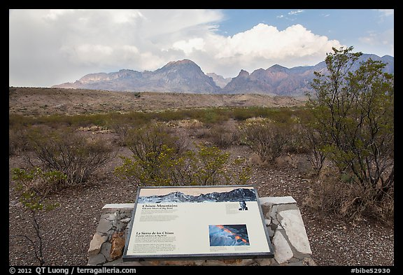 Interpretive sign, Chisos Mountains. Big Bend National Park (color)