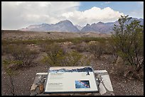 Interpretive sign, Chisos Mountains. Big Bend National Park ( color)