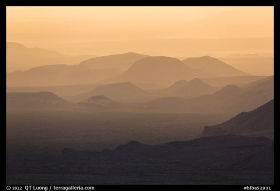 Mountain ridges at sunset. Big Bend National Park (color)