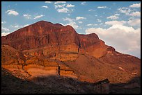 Pena Mountain at sunset. Big Bend National Park ( color)