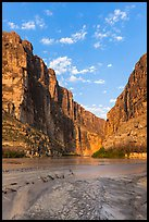 Santa Elena Canyon, sunrise. Big Bend National Park, Texas, USA.