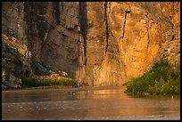 Santa Elena Canyon walls reflected in Terlingua Creek. Big Bend National Park ( color)