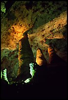 Hall of Giants with six stories tall formations. Carlsbad Caverns National Park ( color)