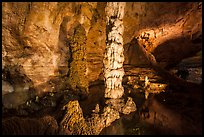 Devils Spring underground pool. Carlsbad Caverns National Park ( color)