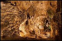 Alcove with delicate speleotherms. Carlsbad Caverns National Park ( color)