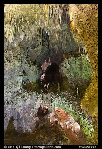 Lower Cave seen from jumping off place. Carlsbad Caverns National Park (color)