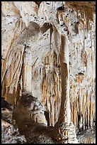 Delicate stalagtites with iron oxide staining in Painted Grotto. Carlsbad Caverns National Park ( color)