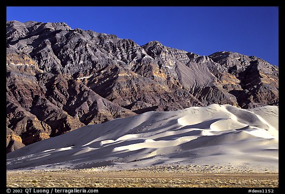 Eureka Dunes and Last Chance range, late afternoon. Death Valley National Park (color)