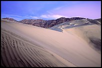 Eureka Dunes, tallest in the park, dusk. Death Valley National Park, California, USA. (color)