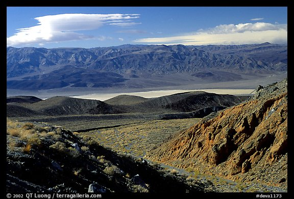Valley viewed from foothills. Death Valley National Park (color)