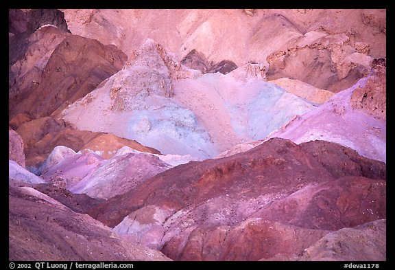 Colorful mineral deposits in Artist's palette. Death Valley National Park (color)