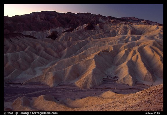 Zabriskie point at dusk. Death Valley National Park (color)