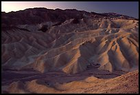 Zabriskie point at dusk. Death Valley National Park, California, USA. (color)