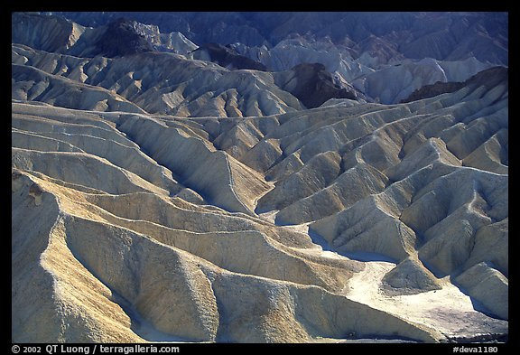 Eroded badlands near Zabriskie Point. Death Valley National Park (color)