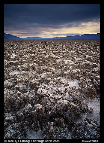 Salt pinnacles at Devils Golf Course. Death Valley National Park (color)