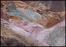 Colorful mineral deposits at Artist's Palette. Death Valley National Park, California, USA.