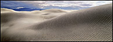 Desert sand dune landscape. Death Valley National Park (Panoramic color)
