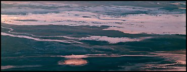 Salt flat seen from above. Death Valley National Park (Panoramic color)