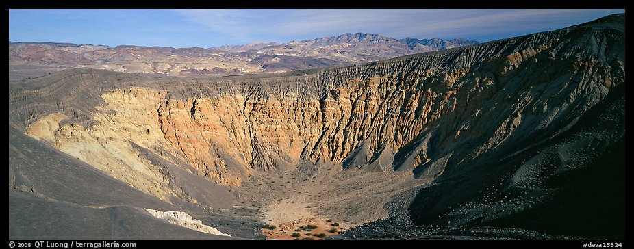 Volcanic Ubehebe crater. Death Valley National Park (color)